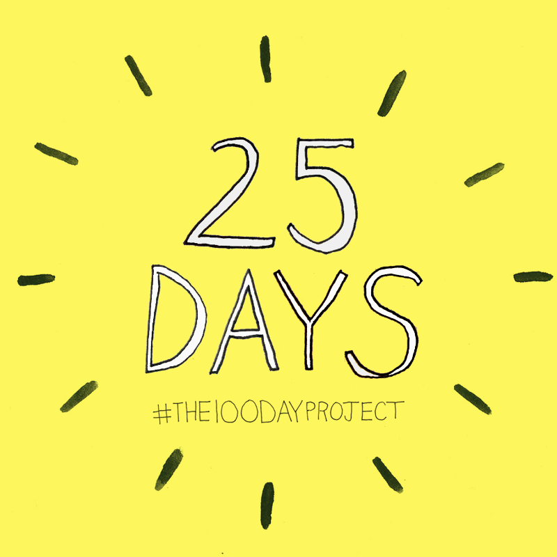 The 100 Day Project – 25Days