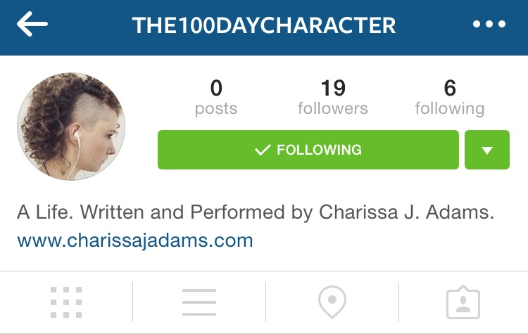 The 100 Day Character